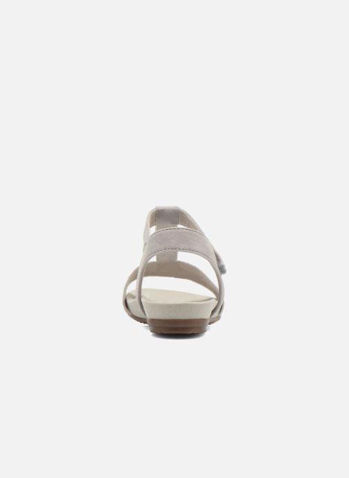 Sandales et nu-pieds Jana shoes Likia Gris vue droite