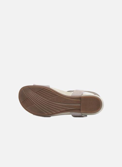 Sandales et nu-pieds Jana shoes Likia Gris vue haut