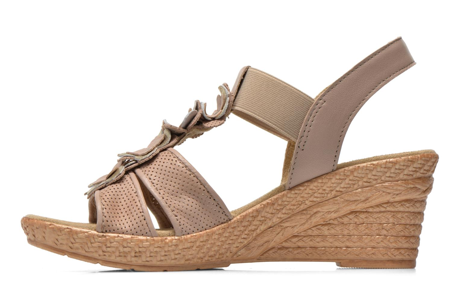 Sandals Jana shoes Morana Beige front view