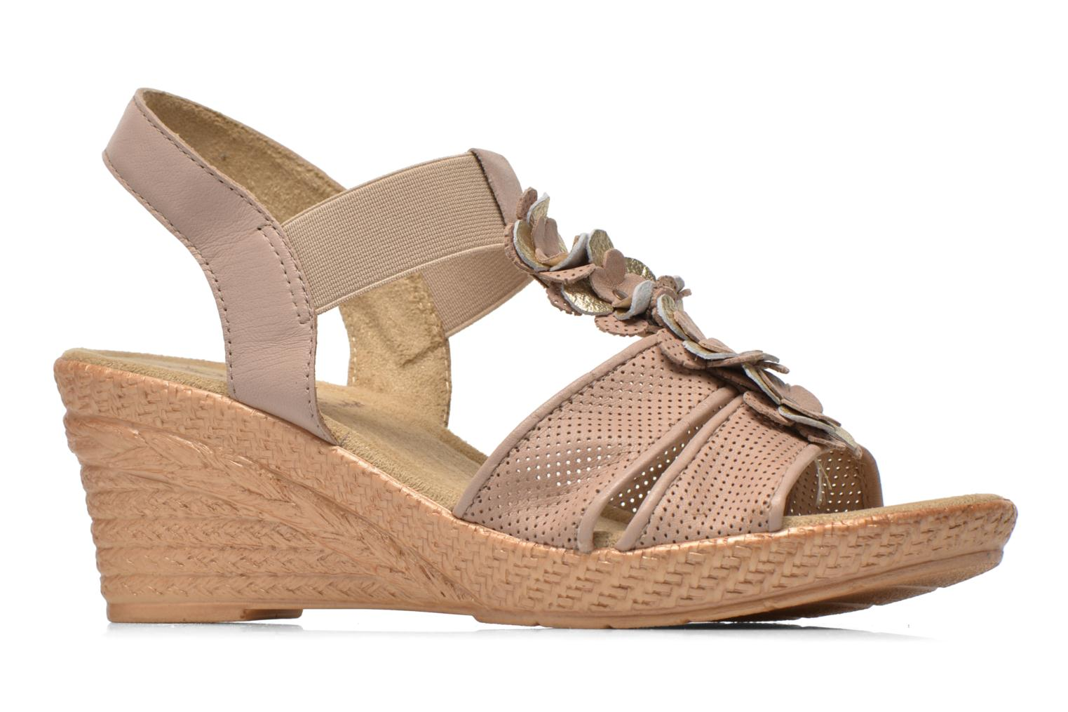 Sandals Jana shoes Morana Beige back view