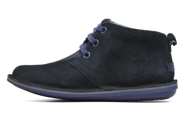 Chaussures à lacets Camper Beetle Street Kids Bleu vue face