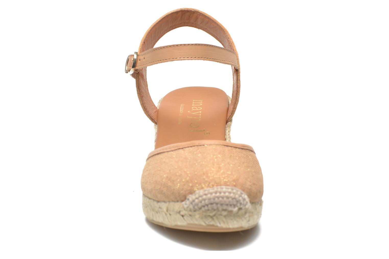 Sandales et nu-pieds Maypol Lolita Marron vue portées chaussures