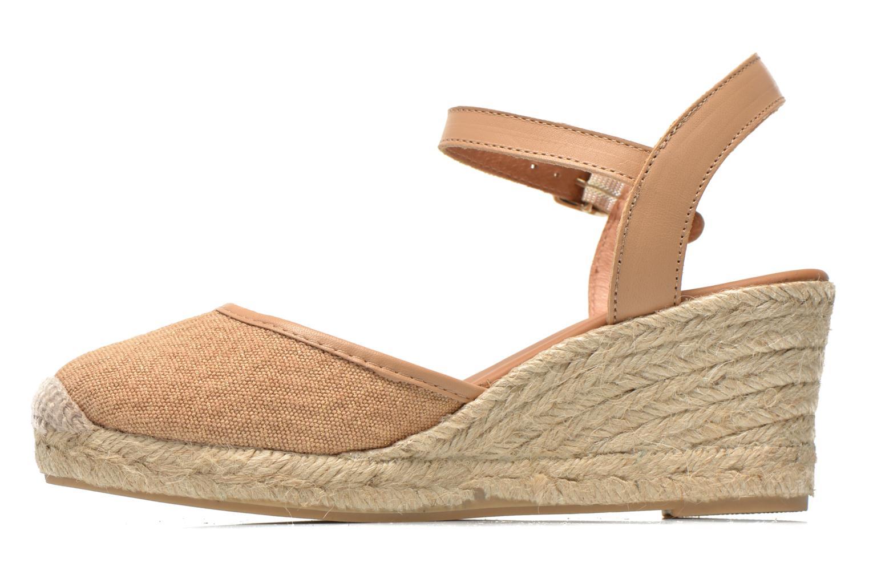 Sandales et nu-pieds Maypol Lolita Marron vue face