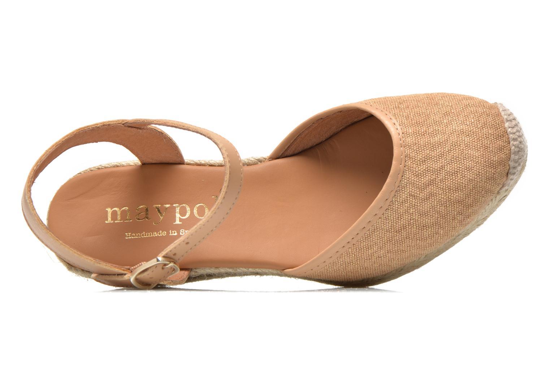 Sandales et nu-pieds Maypol Lolita Marron vue gauche