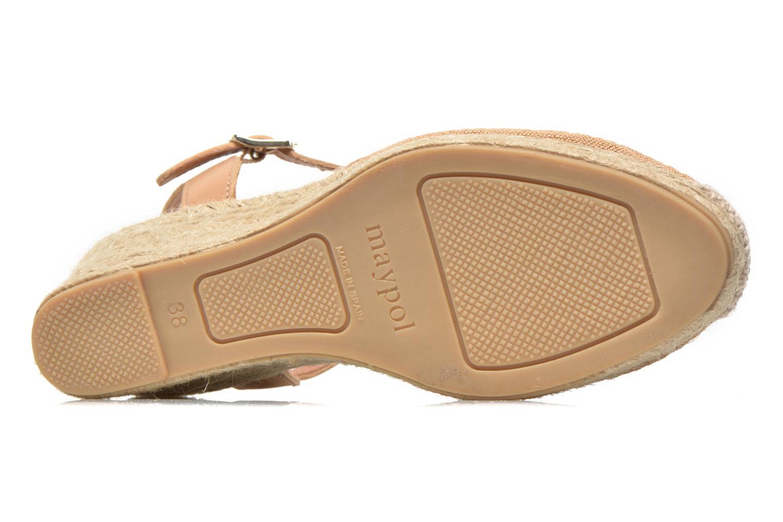Sandales et nu-pieds Maypol Lolita Marron vue haut