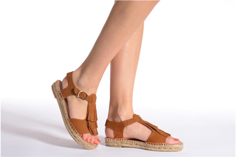 Sandales et nu-pieds Maypol Mohica Marron vue bas / vue portée sac