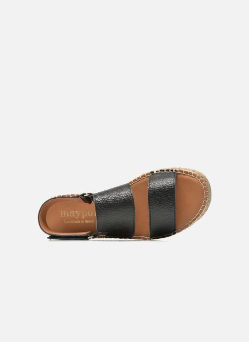 Sandali e scarpe aperte Maypol Moss Nero immagine sinistra