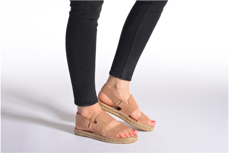 Sandales et nu-pieds Maypol Moss Beige vue bas / vue portée sac