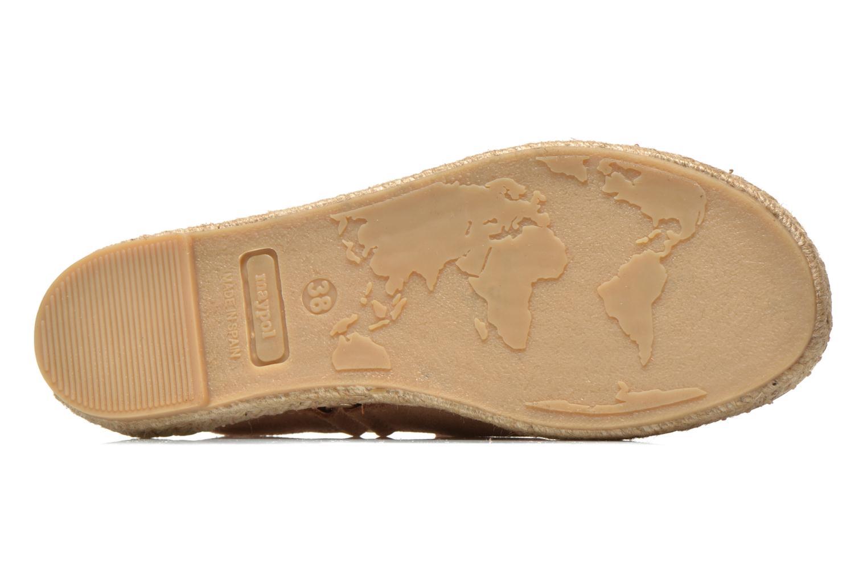 Sandales et nu-pieds Maypol Moss Beige vue haut