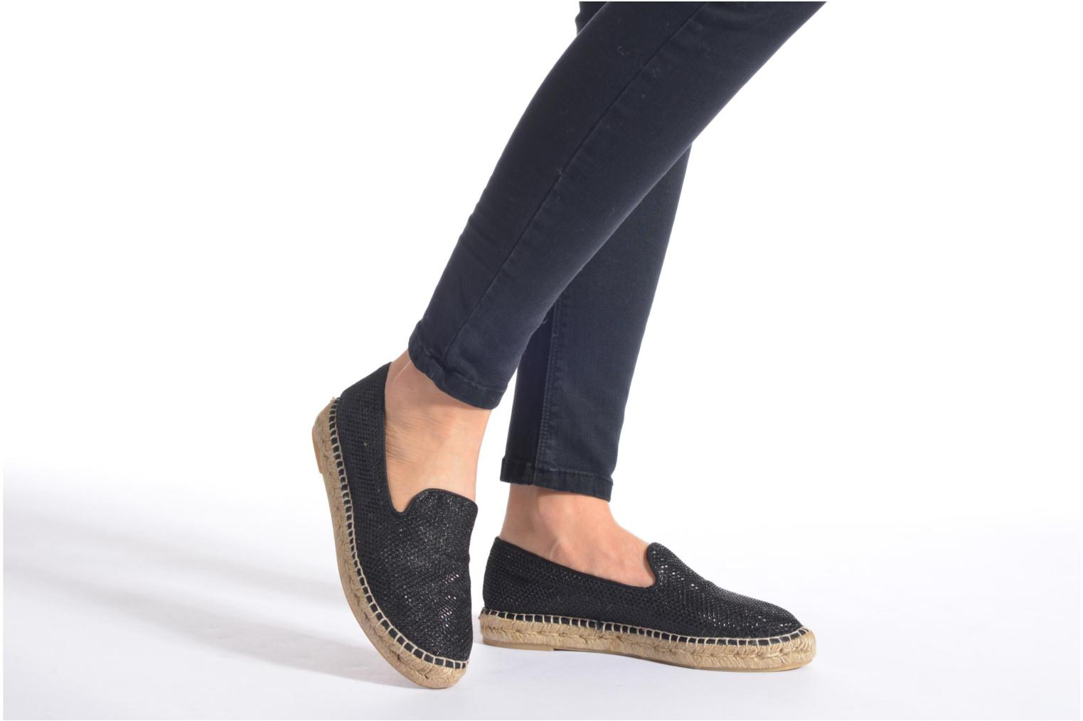 Espadrilles Maypol Susan Black view from underneath / model view
