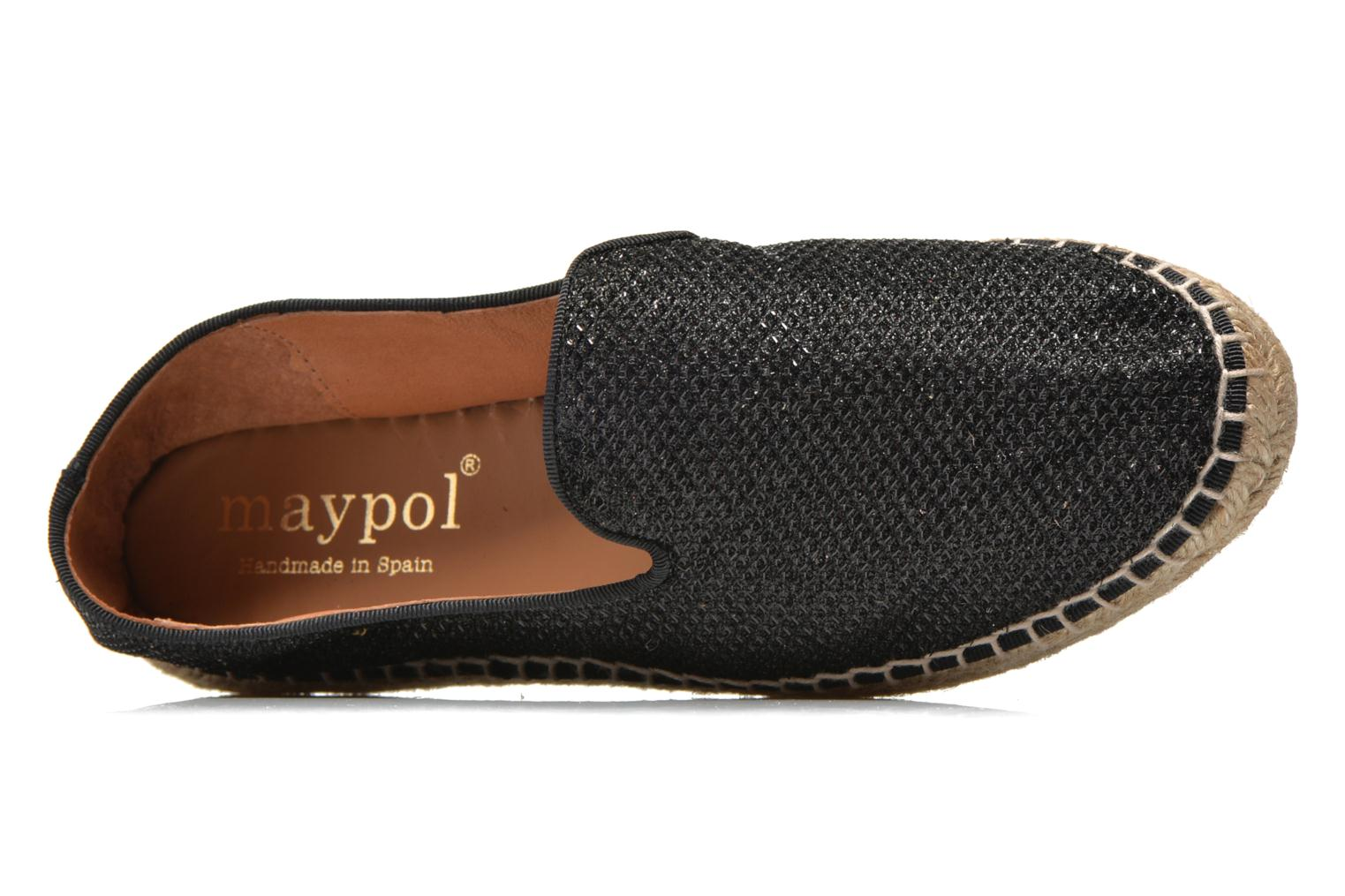 Espadrilles Maypol Susan Black view from the left