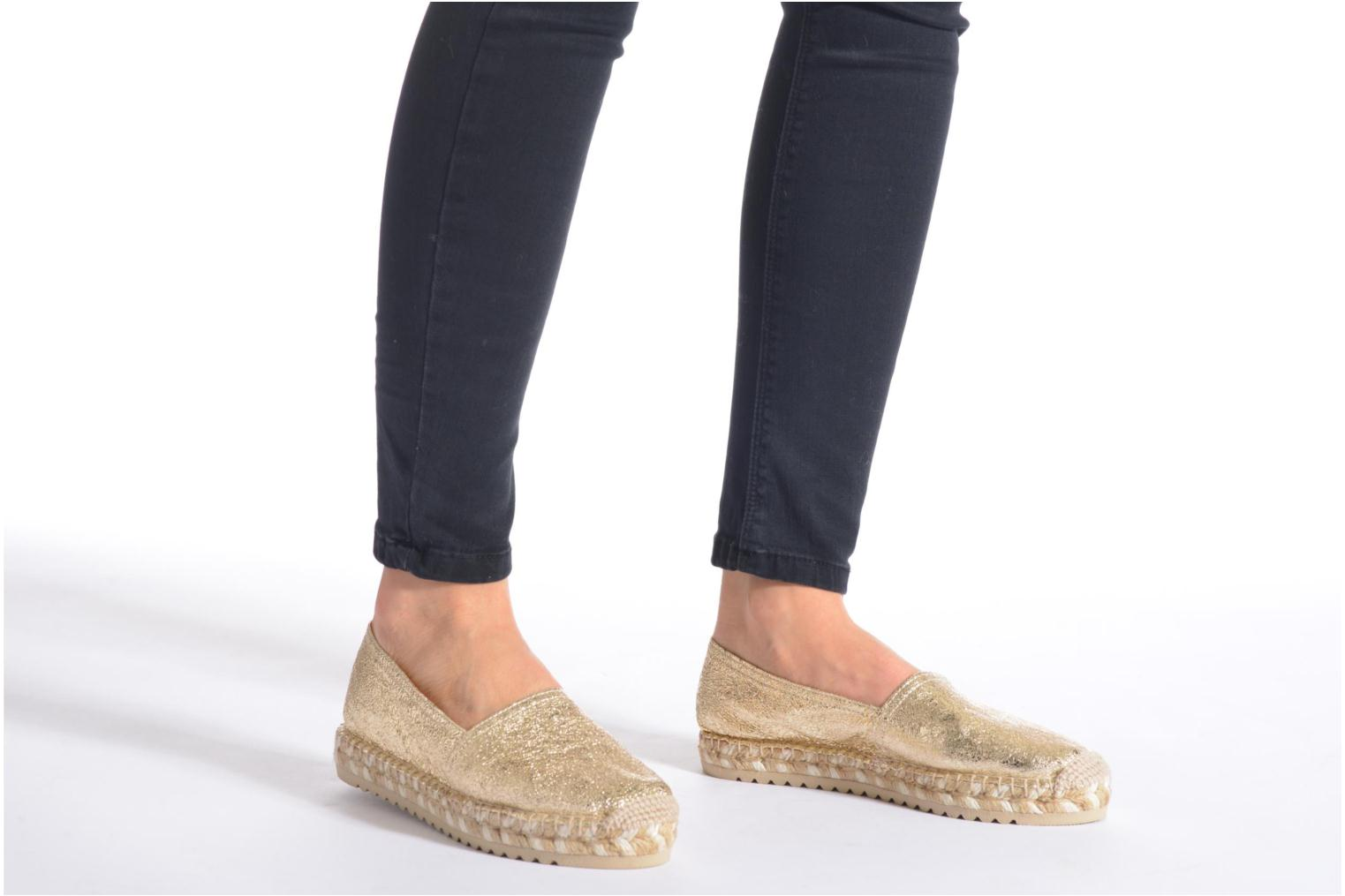 Espadrilles Maypol Samba Bronze and Gold view from underneath / model view