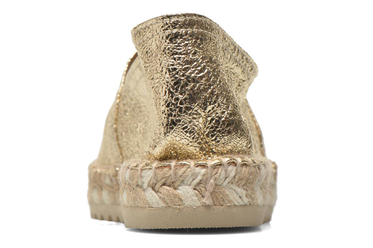 Espadrilles Maypol Samba Bronze and Gold view from the right