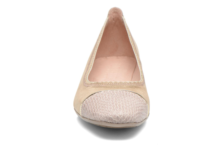 Ballerines Hispanitas Marsell Or et bronze vue portées chaussures