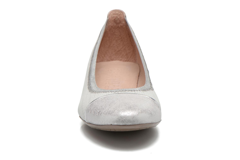 Ballerines Hispanitas Cannes Argent vue portées chaussures