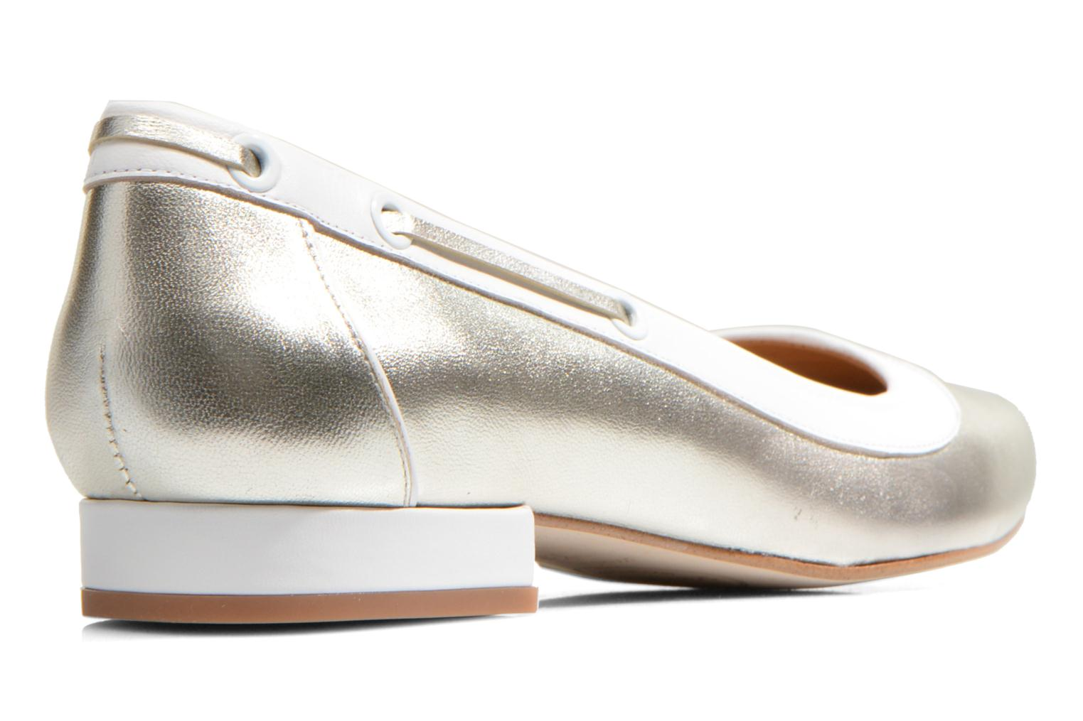 Ballet pumps Made by SARENZA Parasols de Paris #5 Silver front view