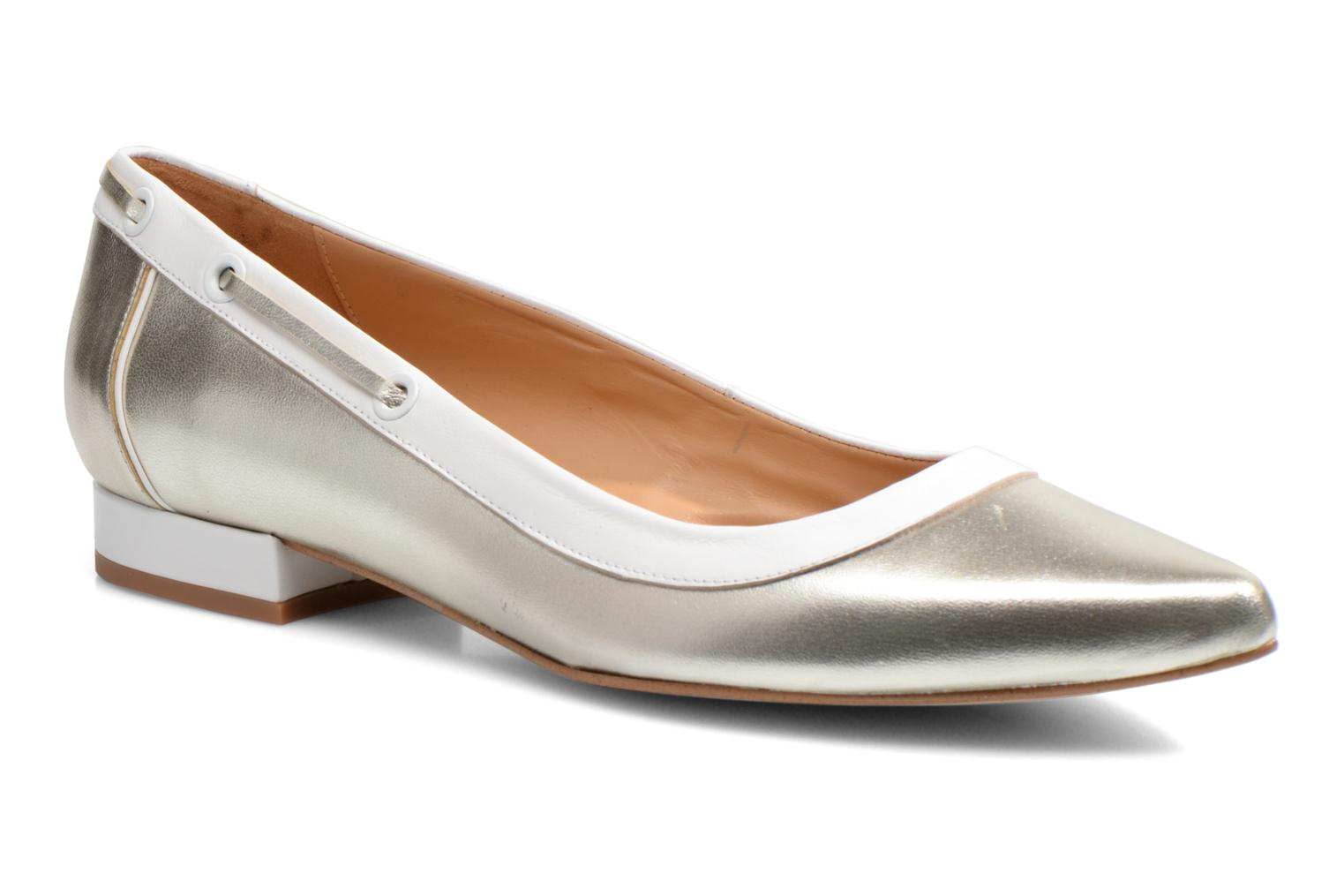 Ballet pumps Made by SARENZA Parasols de Paris #5 Silver view from the right
