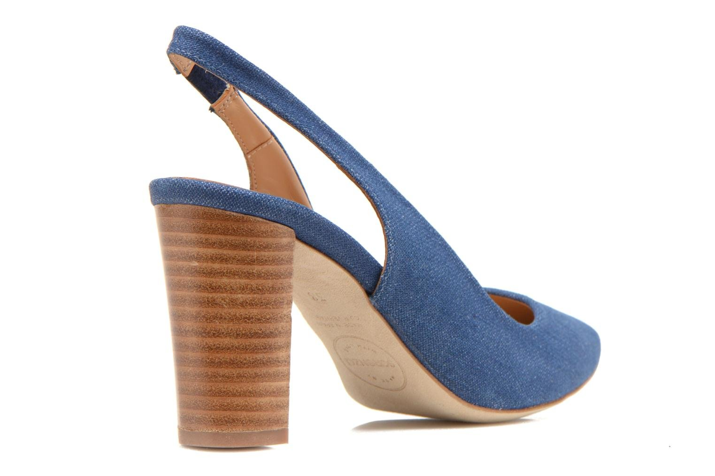 Escarpins Made by SARENZA Glaçons citrons #1 Bleu vue face