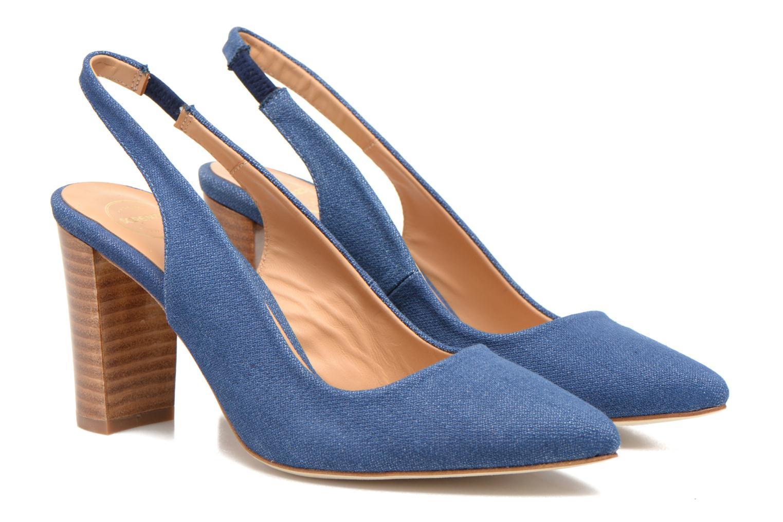 Escarpins Made by SARENZA Glaçons citrons #1 Bleu vue derrière