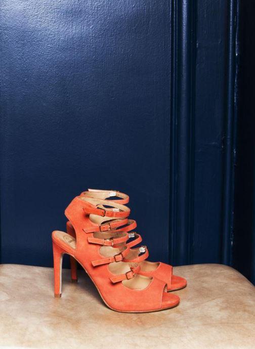 Sandalias Made by SARENZA Loulou au Luco #7 Naranja vista 3/4