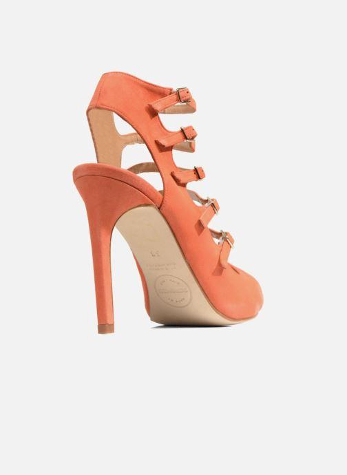 Sandalias Made by SARENZA Loulou au Luco #7 Naranja vista de frente