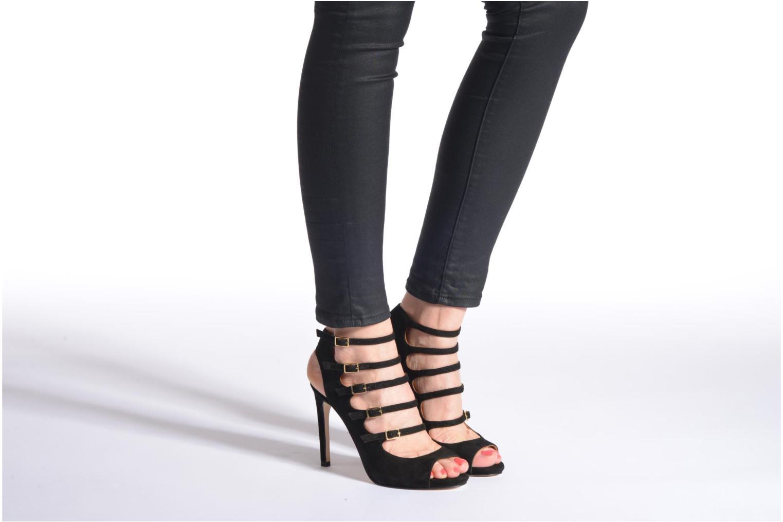 Sandales et nu-pieds Made by SARENZA Loulou au Luco #7 Noir vue bas / vue portée sac