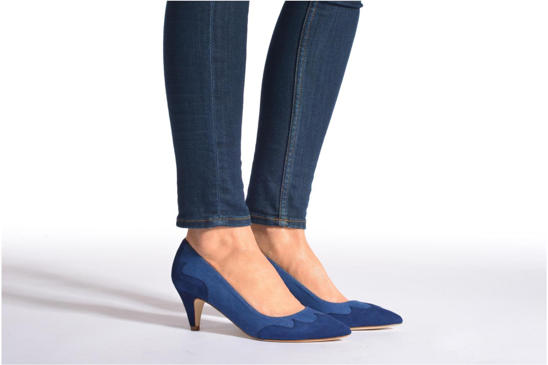 Escarpins Made by SARENZA Western Fever #2 Bleu vue bas / vue portée sac