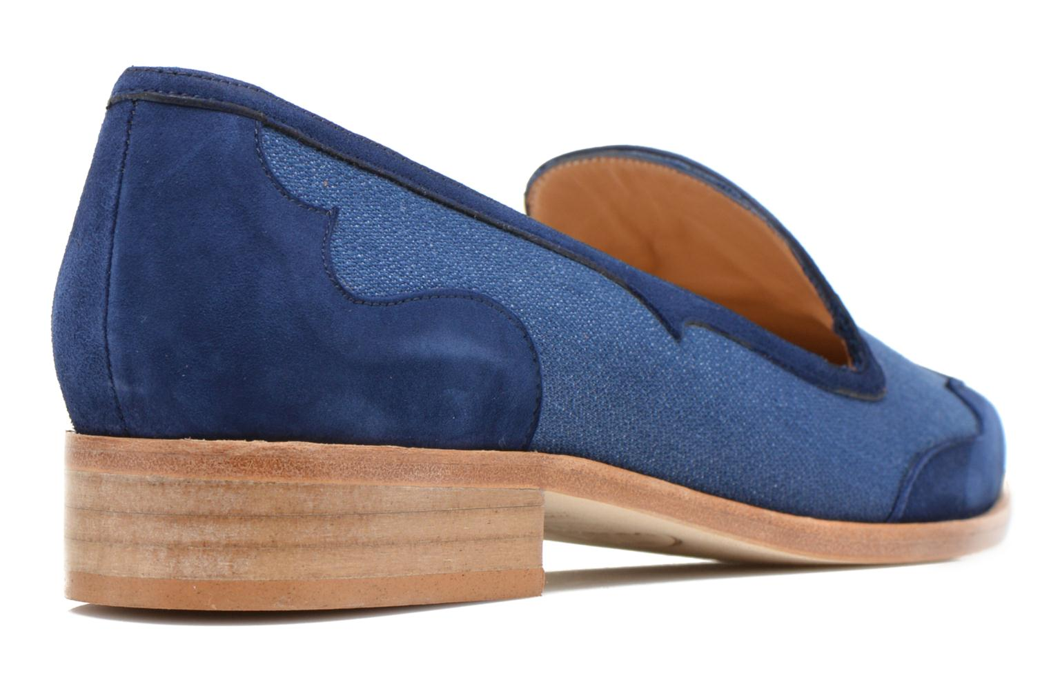 Loafers Made by SARENZA Seven Tease #1 Blue front view