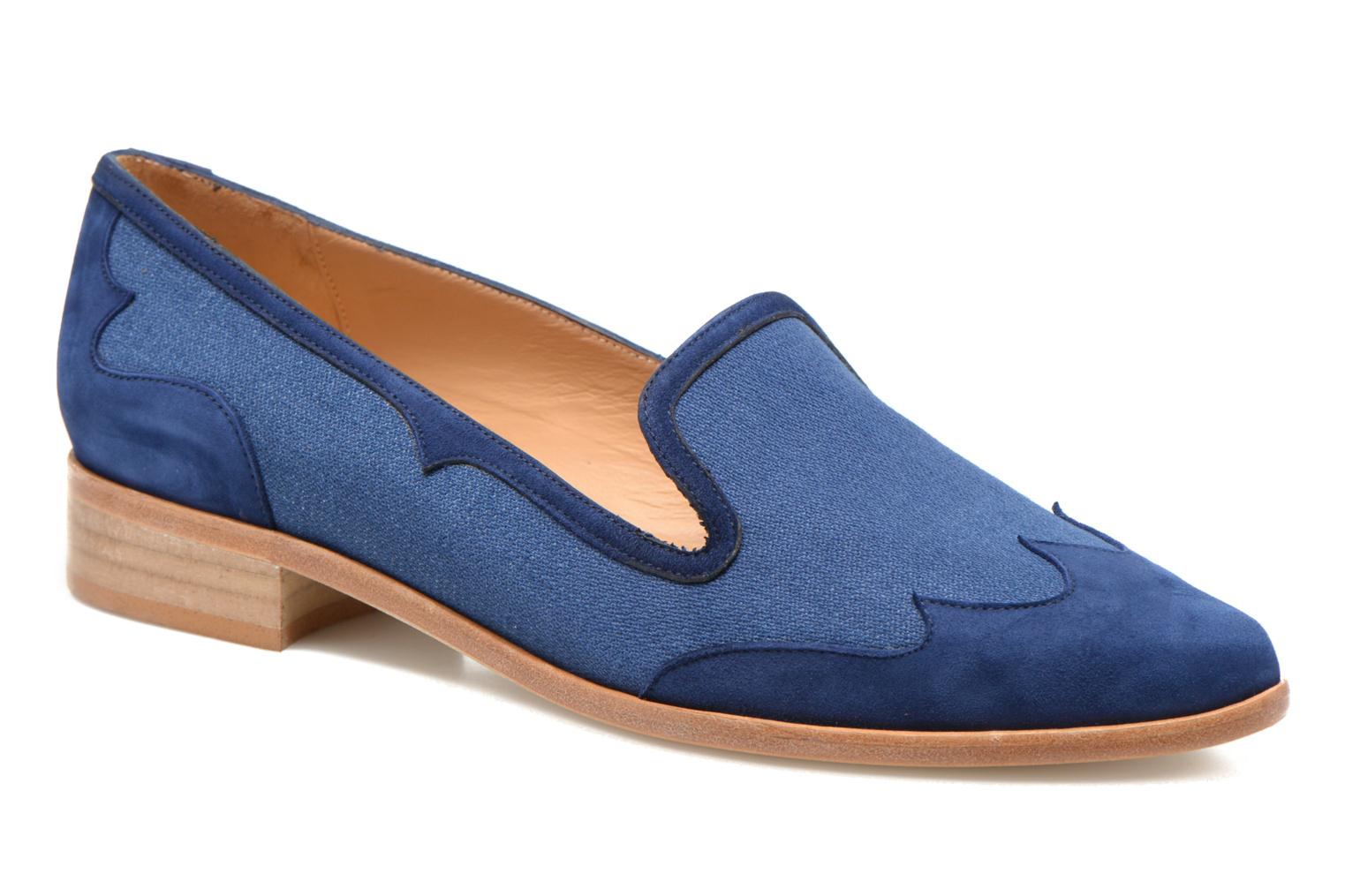 Loafers Made by SARENZA Seven Tease #1 Blue view from the right