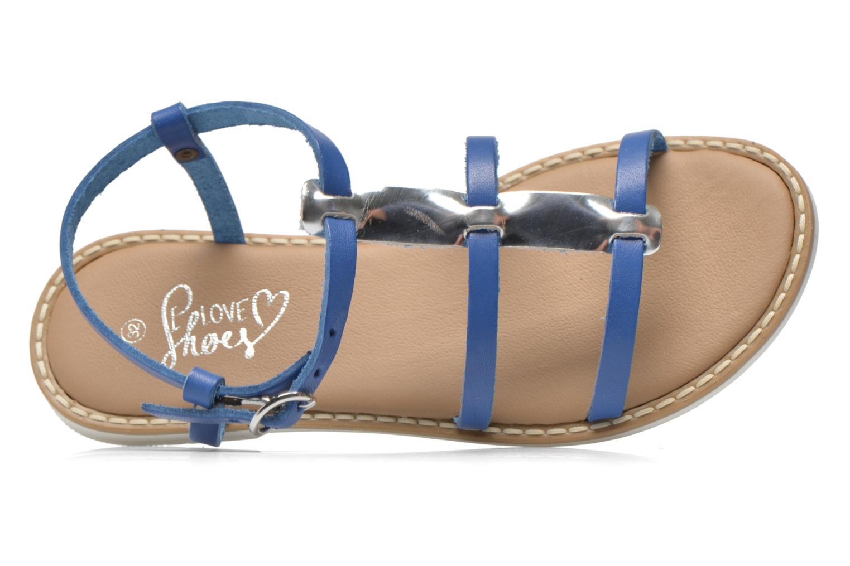 Sandales et nu-pieds I Love Shoes Dolsa Bleu vue gauche