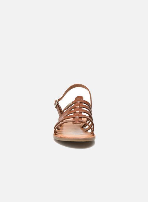 Sandales et nu-pieds Les Tropéziennes par M Belarbi Havapo Marron vue portées chaussures