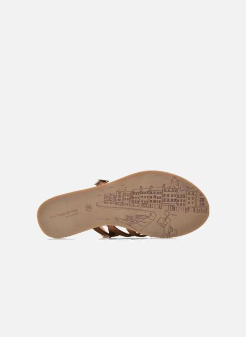 Sandales et nu-pieds Les Tropéziennes par M Belarbi Havapo Marron vue haut