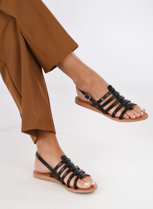 Sandales et nu-pieds Les Tropéziennes par M Belarbi Havapo Noir vue bas / vue portée sac