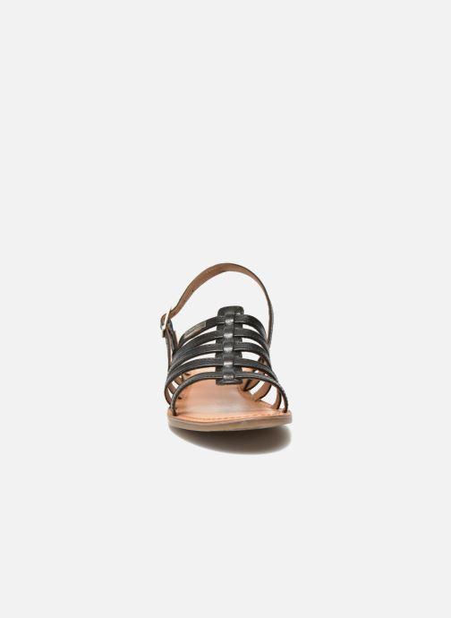 Sandales et nu-pieds Les Tropéziennes par M Belarbi Havapo Noir vue portées chaussures