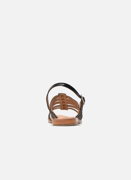 Sandales et nu-pieds Les Tropéziennes par M Belarbi Havapo Noir vue droite
