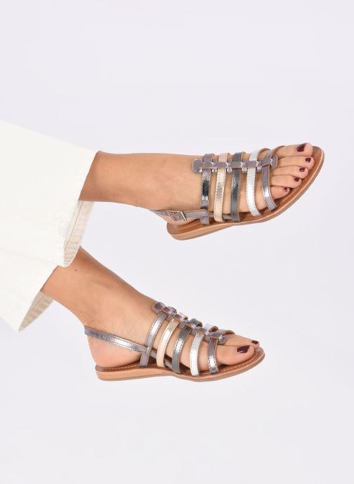 Sandales et nu-pieds Les Tropéziennes par M Belarbi Havapo Argent vue bas / vue portée sac