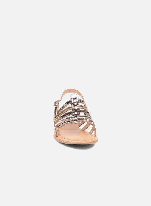 Sandales et nu-pieds Les Tropéziennes par M Belarbi Havapo Argent vue portées chaussures