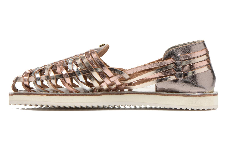 Sandales et nu-pieds Les Tropéziennes par M Belarbi Mardi Or et bronze vue face