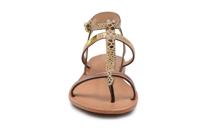 Sandali e scarpe aperte Les Tropéziennes par M Belarbi Baie Oro e bronzo modello indossato