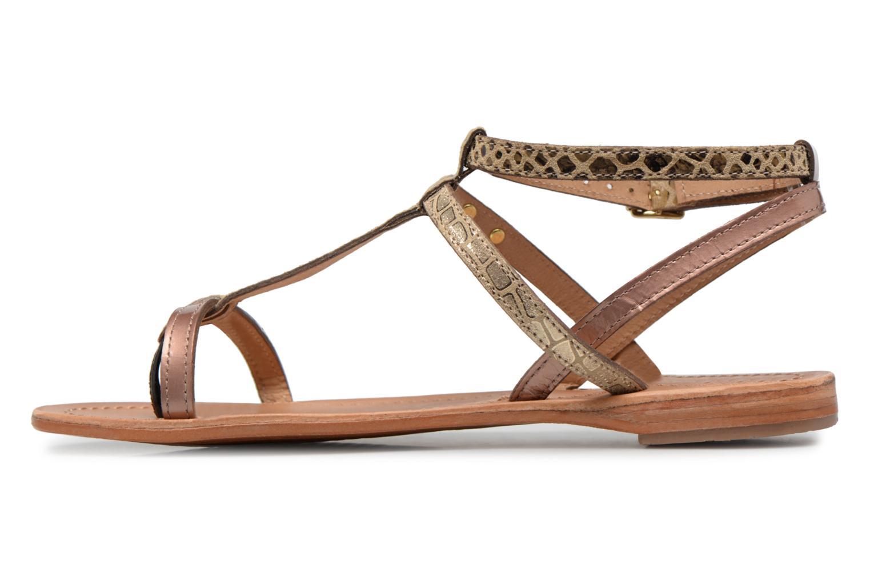 Sandali e scarpe aperte Les Tropéziennes par M Belarbi Baie Oro e bronzo immagine frontale