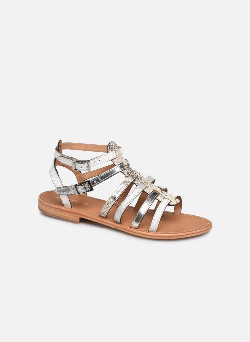 Sandals Les Tropéziennes par M Belarbi Baille White detailed view/ Pair view