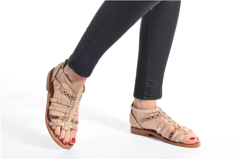 Sandales et nu-pieds Les Tropéziennes par M Belarbi Baille Or et bronze vue bas / vue portée sac