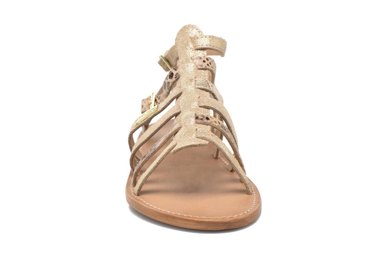 Sandales et nu-pieds Les Tropéziennes par M Belarbi Baille Or et bronze vue portées chaussures