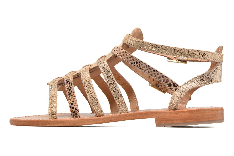 Sandales et nu-pieds Les Tropéziennes par M Belarbi Baille Or et bronze vue face