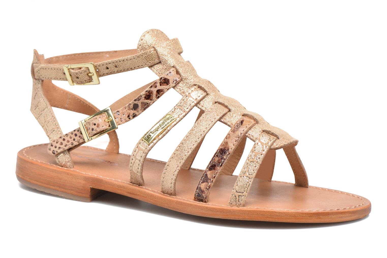 Sandales et nu-pieds Les Tropéziennes par M Belarbi Baille Or et bronze vue détail/paire
