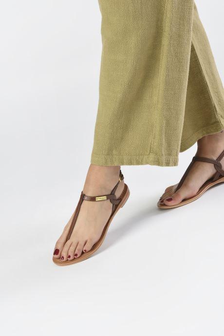 Sandales et nu-pieds Les Tropéziennes par M Belarbi Billy Marron vue bas / vue portée sac