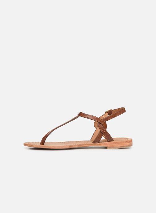 Sandales et nu-pieds Les Tropéziennes par M Belarbi Billy Marron vue face