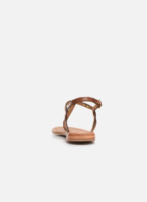 Sandales et nu-pieds Les Tropéziennes par M Belarbi Billy Marron vue droite