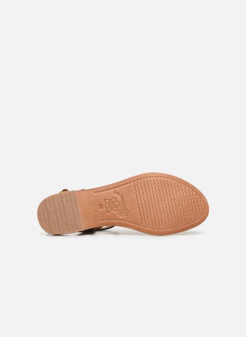 Sandales et nu-pieds Les Tropéziennes par M Belarbi Billy Marron vue haut