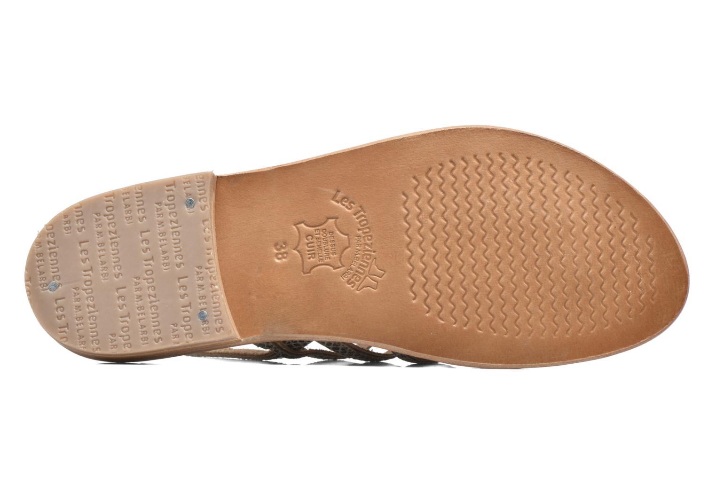 Sandales et nu-pieds Les Tropéziennes par M Belarbi Herbier Gris vue haut
